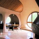 coin repas et cheminée récup maison Antonio Beninca