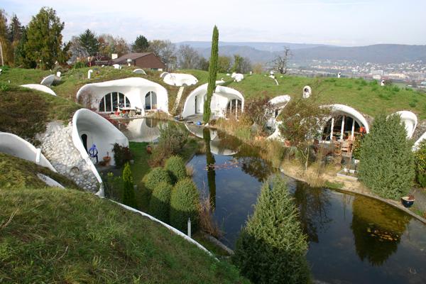 maisons enterrées de Peter Vetsch