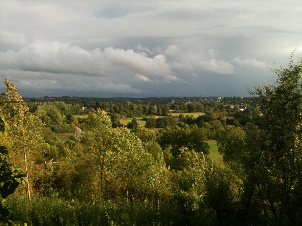 vue du terrain de Montgivray vers le sud