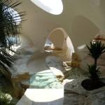 le jardin d'hiver de la maison Antoine Gaudet au Rouréou