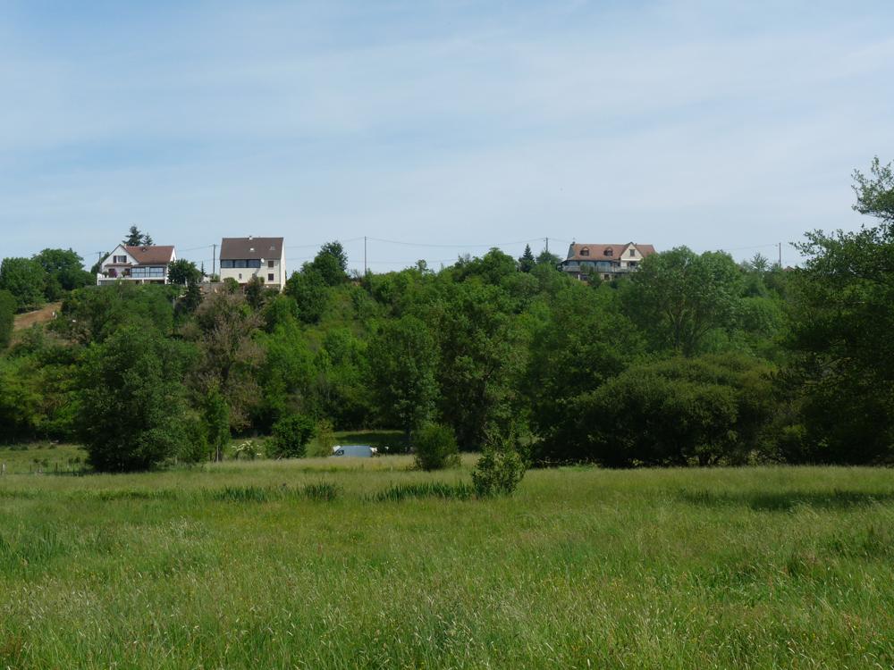 vue du terrain depuis La Châtre