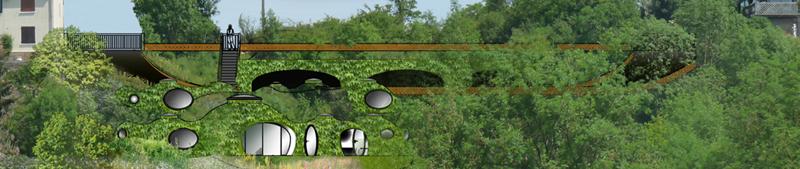 maison bulle bioclimatique enterrée à Montgivray