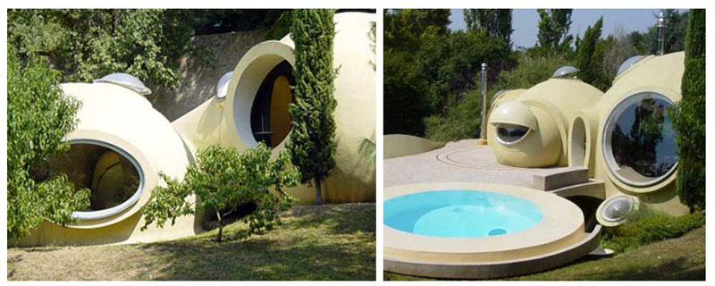 maison bulle Hélène et Christian Roux à Fontaines-sur-Saône