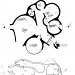 plans de la bulle maquette d'Antti Lovag à Tourrettes-sur-Loup