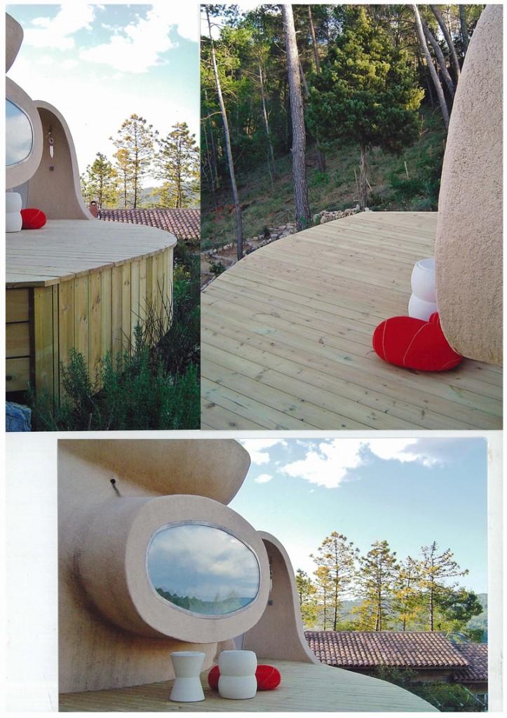 terrasse maison bulle Vidauban