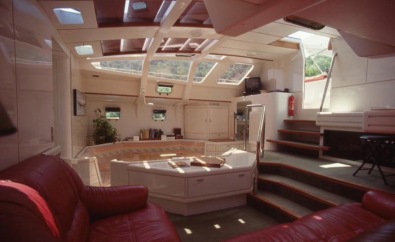 intérieur catamaran Apothéose, Jean-Michel Ducancelle