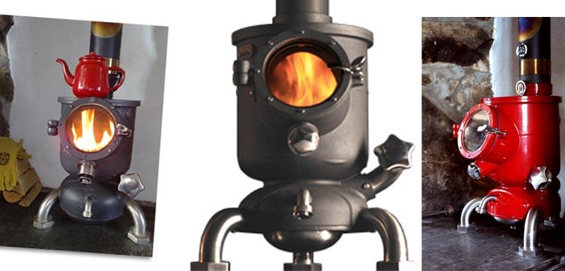 Poêle à bois Hot-Pod