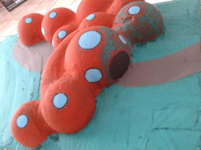 maquette maison bulle boules de polystyrène