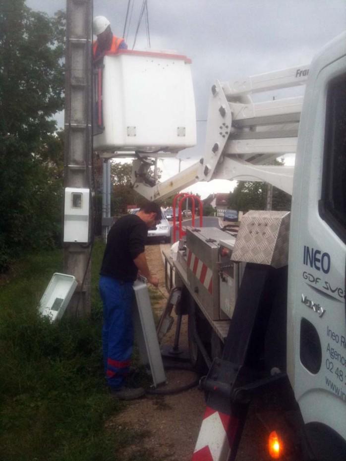 installation compteur de chantier maison bulle
