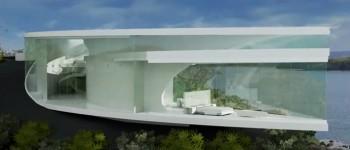 maison verre vue mer