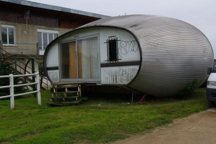 maison ovoide en alu