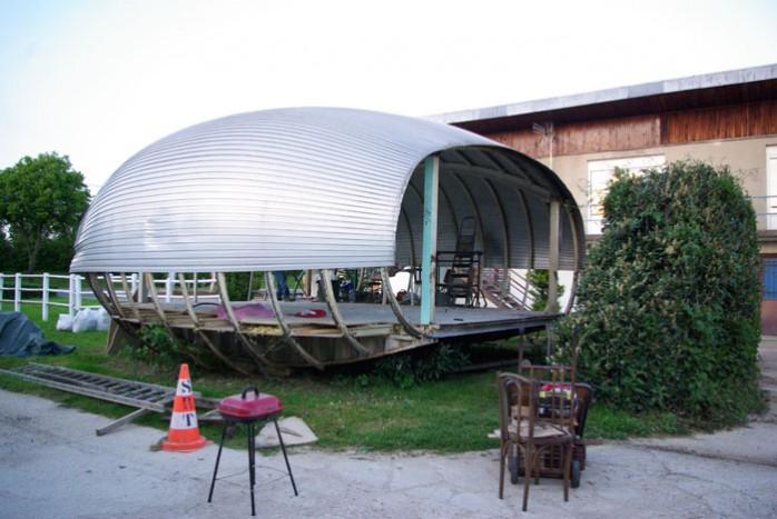 maison ovoïde aluminium démontage