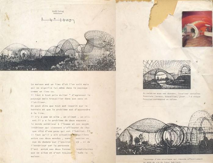 Exemples de ferraillage maisons bulles Antti Lovag