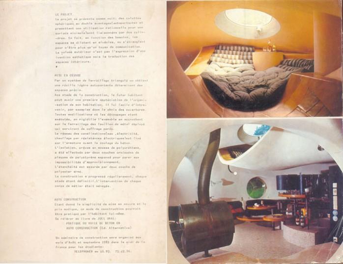 Intérieur bulle maquette Antti Lovag