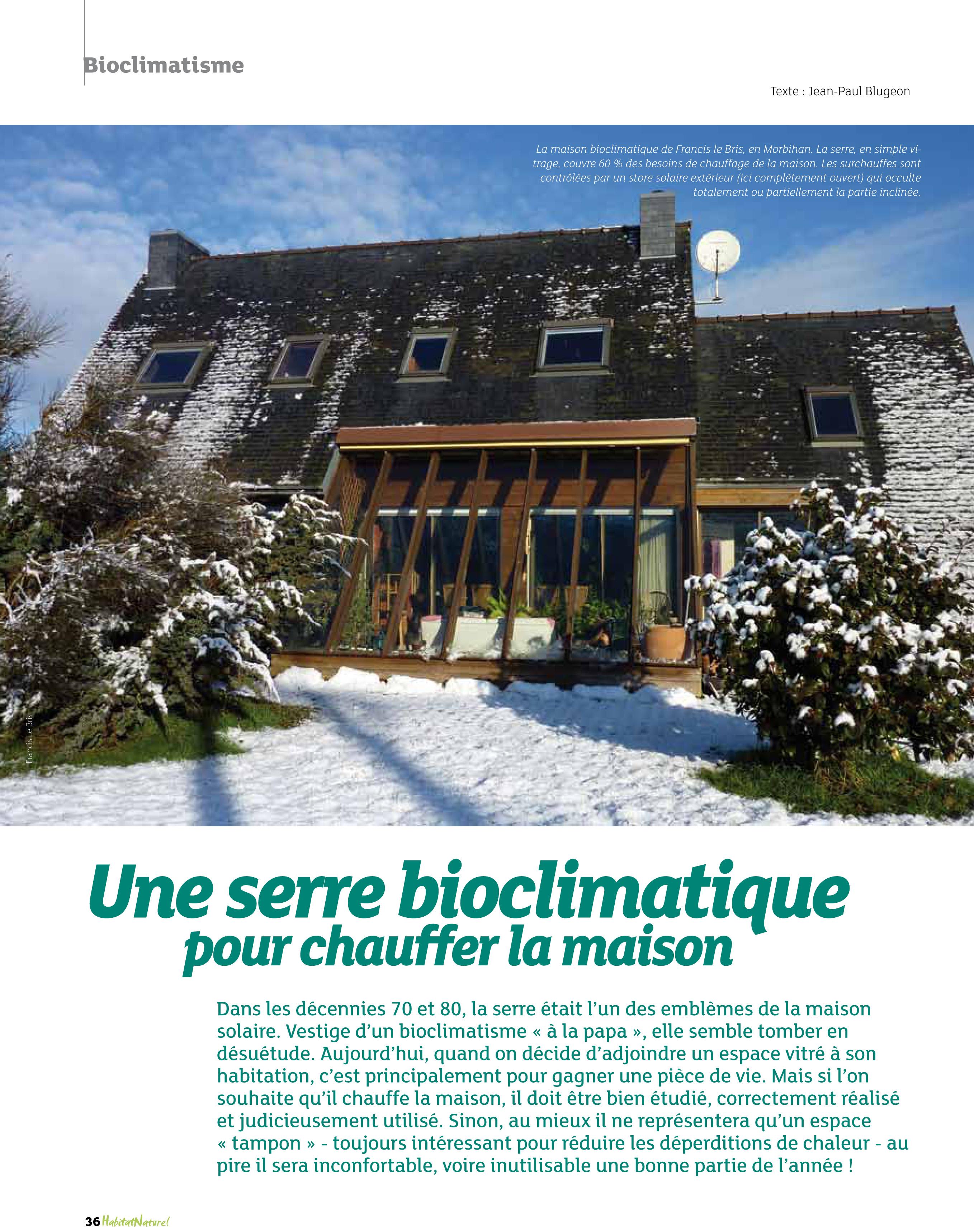 Nouveau Une serre bioclimatique pour chauffer la maison bulle ! | ZC-95
