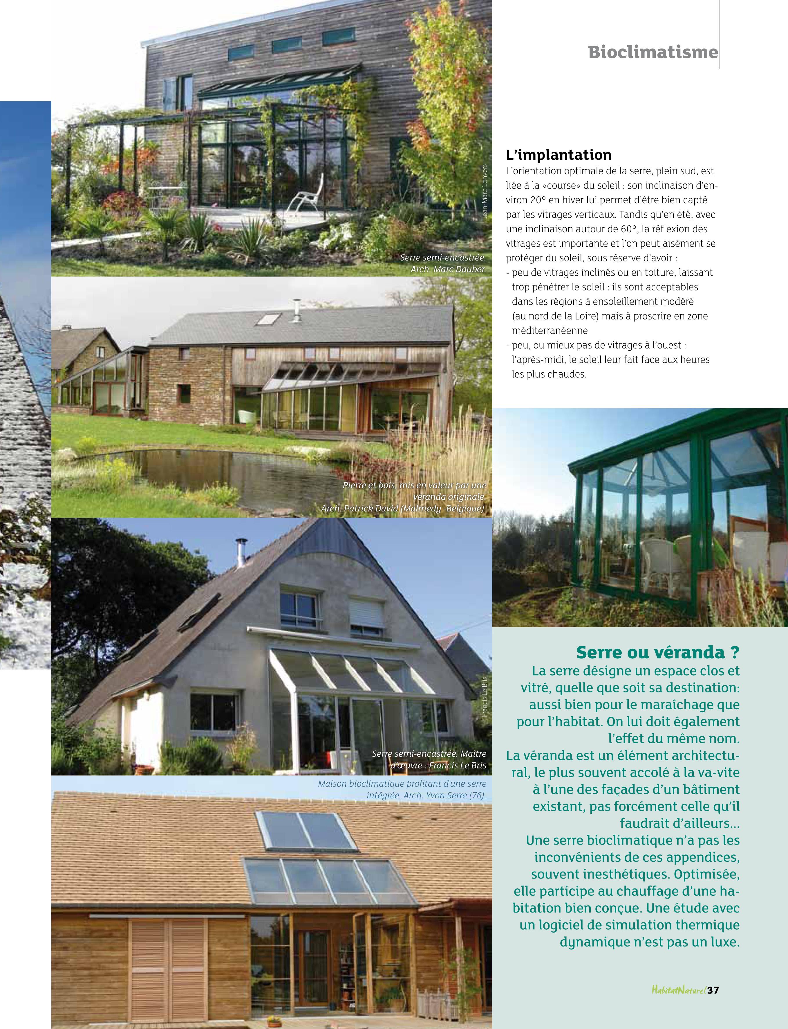 Super Une serre bioclimatique pour chauffer la maison bulle ! | RM-61