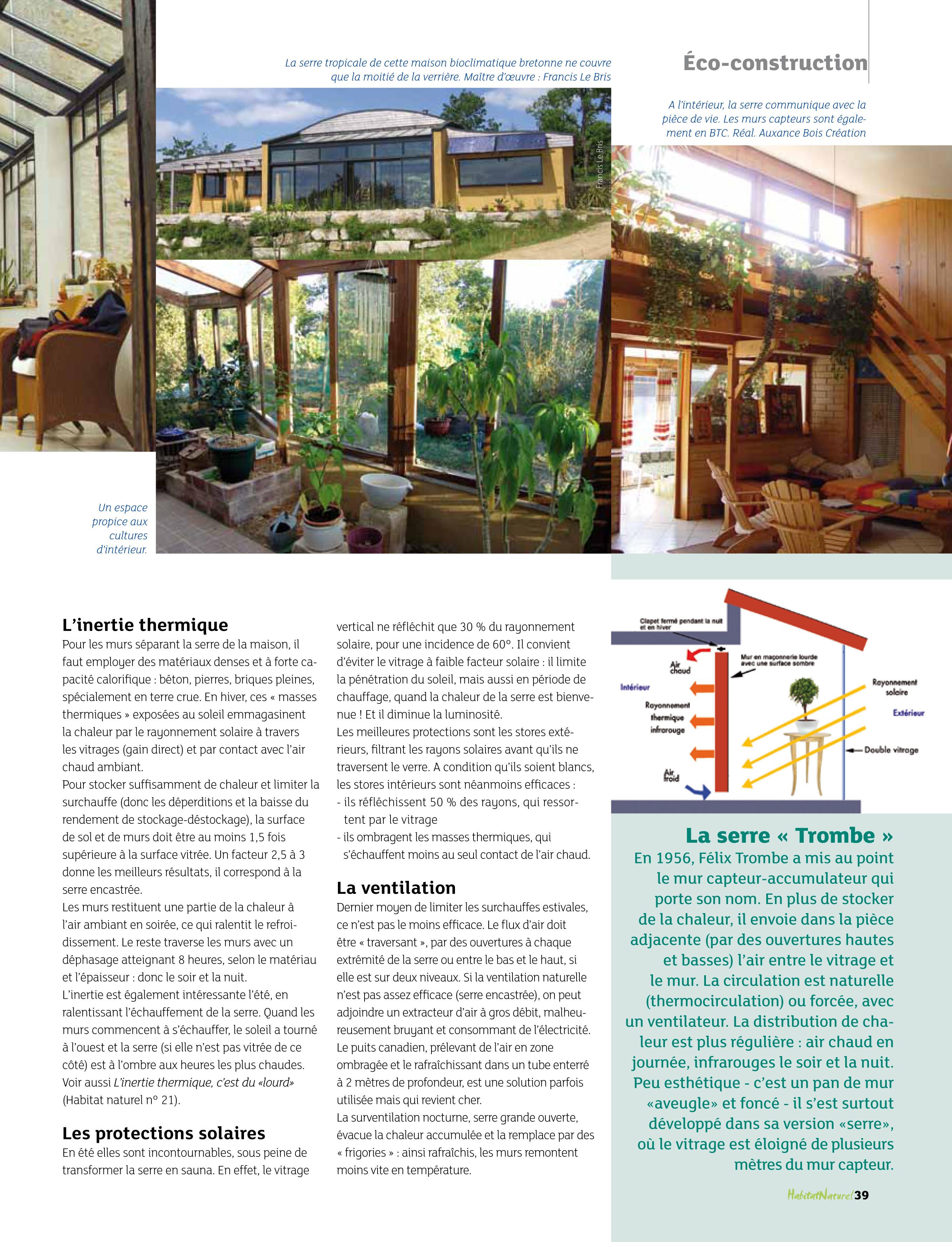 Remarquable Une serre bioclimatique pour chauffer la maison bulle ! | UQ-78