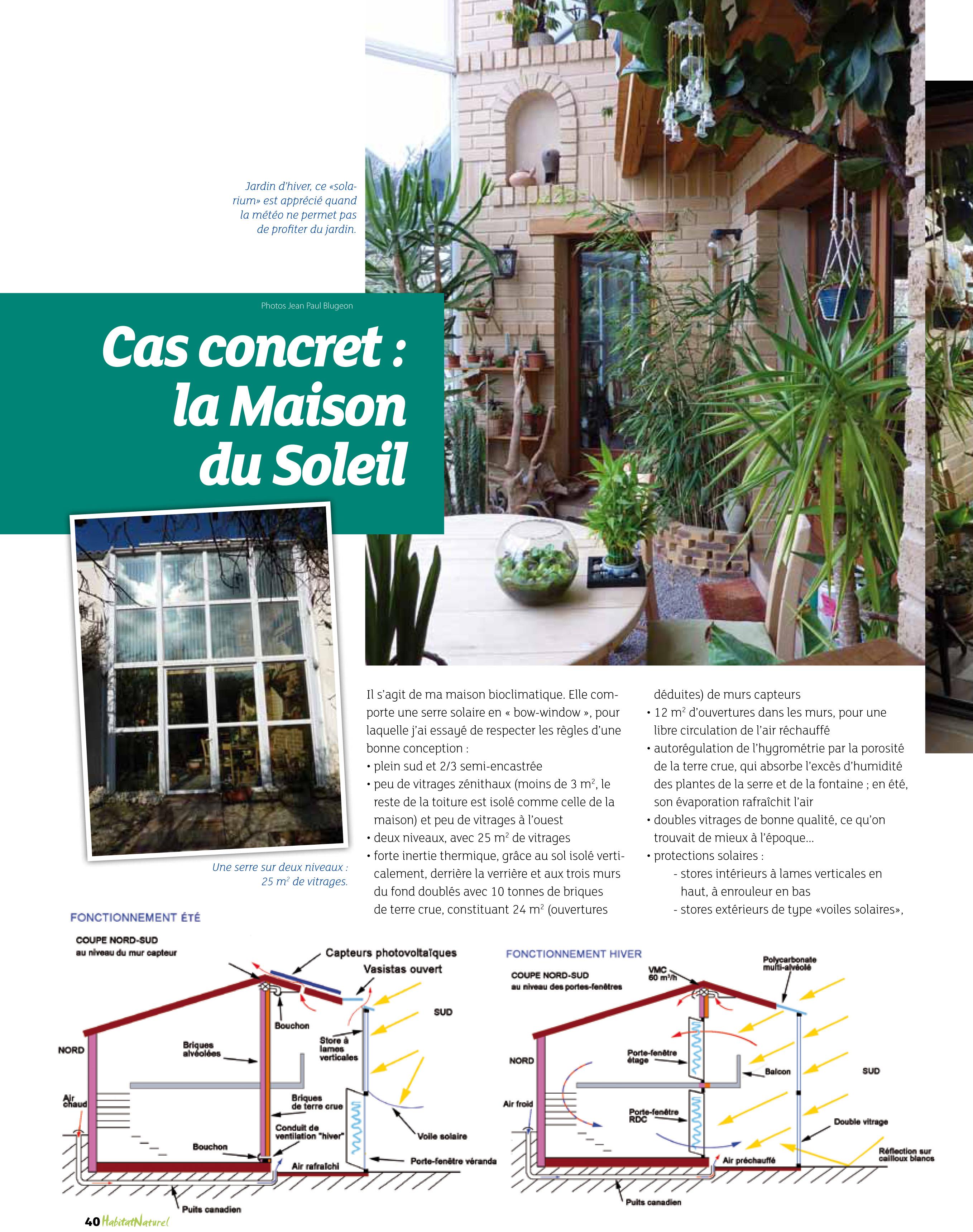 Célèbre Une serre bioclimatique pour chauffer la maison bulle ! | SS62
