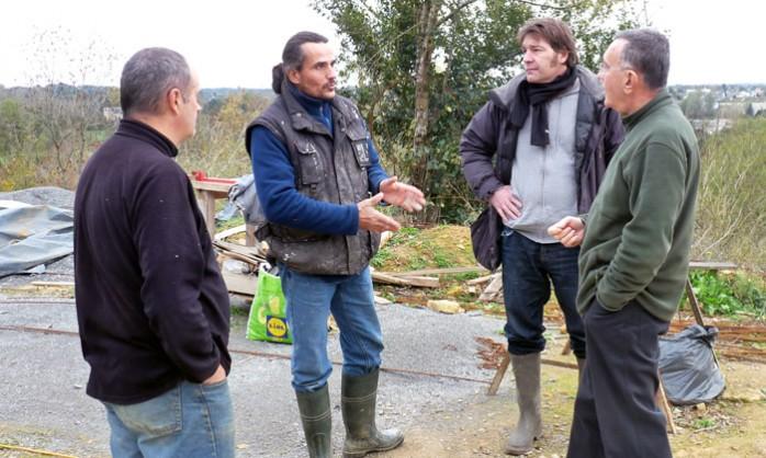de gauche à droite, moi, Luc, Jérôme et Christian