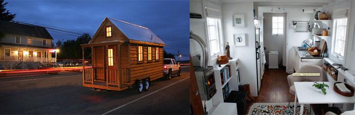 Maison En Bois Sur Roues - Caravane Chalet Mobileà Vendre Occasion Sur Roue