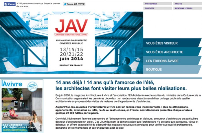 JAV magazine internet d'architecture
