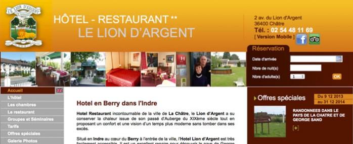 Hébergment Hôtel le Lion d'Argent