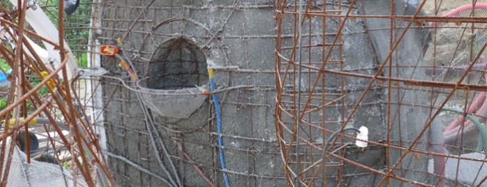 ciment coté extérieur
