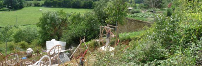 vue depuis la tour de Cyril a Guédelon en Berry