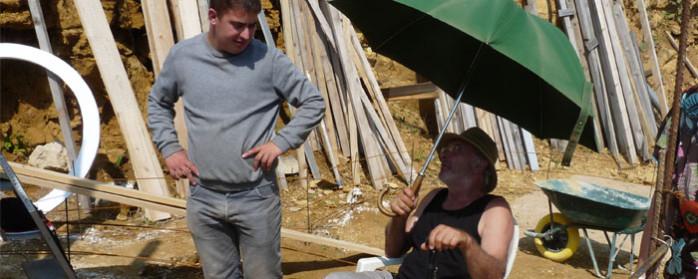 stage, Antonio discutant avec Bastien