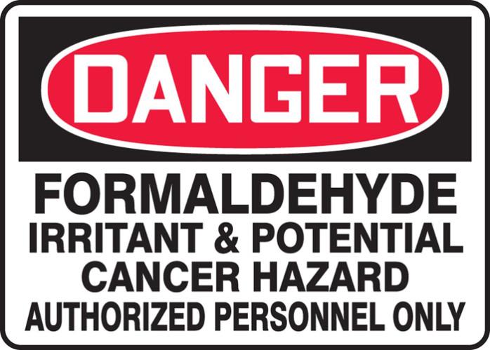 Danger, cancer Formaldéhyde