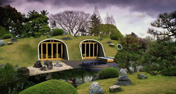 maisons enterrées green house