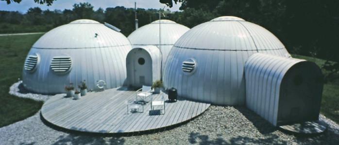 maison dome en métal