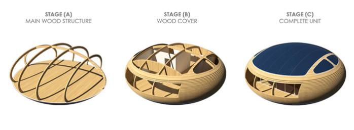 structure bois lamellé collé