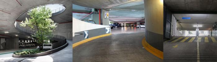 la rampe de parking