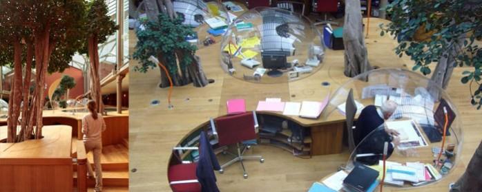 un bureau dans ma bulle