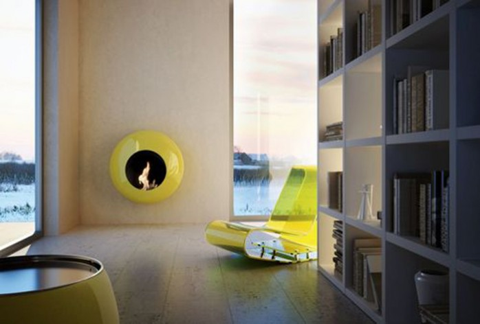 cheminée bubble jaune (ma préférée, j'adore le jaune)