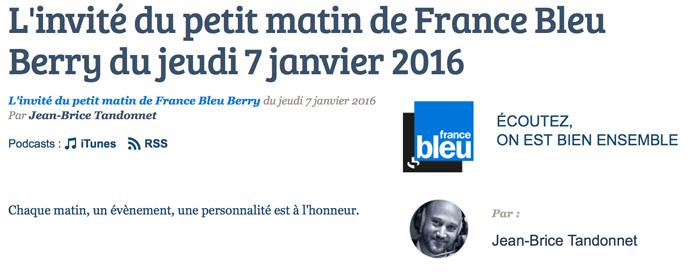interview France Bleu Berry