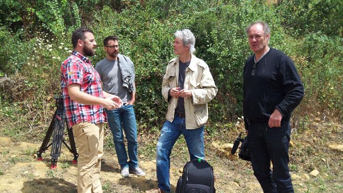 de gauche a droite, Jérôme Gillard, Thierry Vincent, Patrick Charles-Messance et Laurent Redolfi