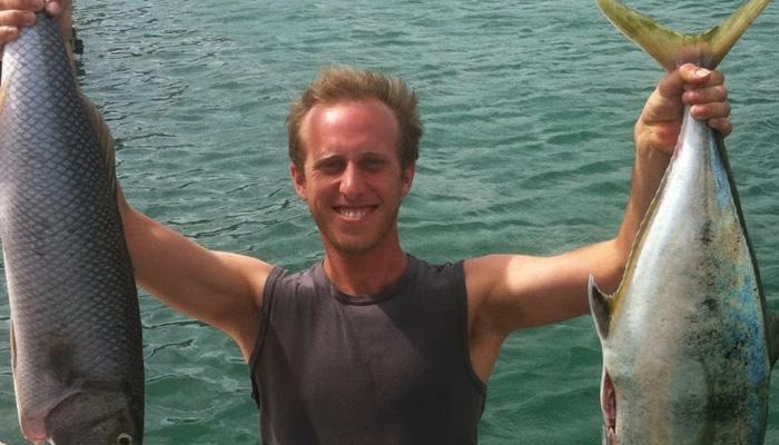 Antoine à la pêche