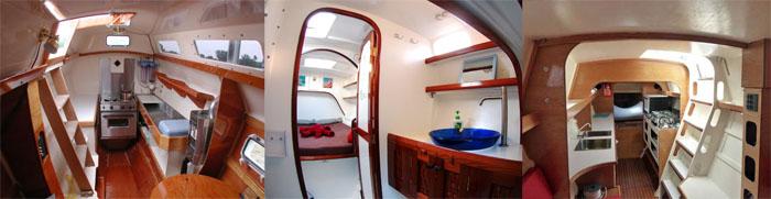 intérieur catamaran wharram