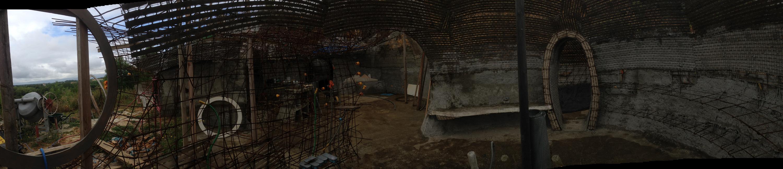 intérieur cuisine et grande bulle