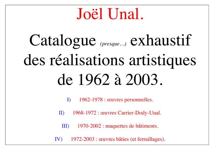 catalogue maison bulle Joël Unal page 01