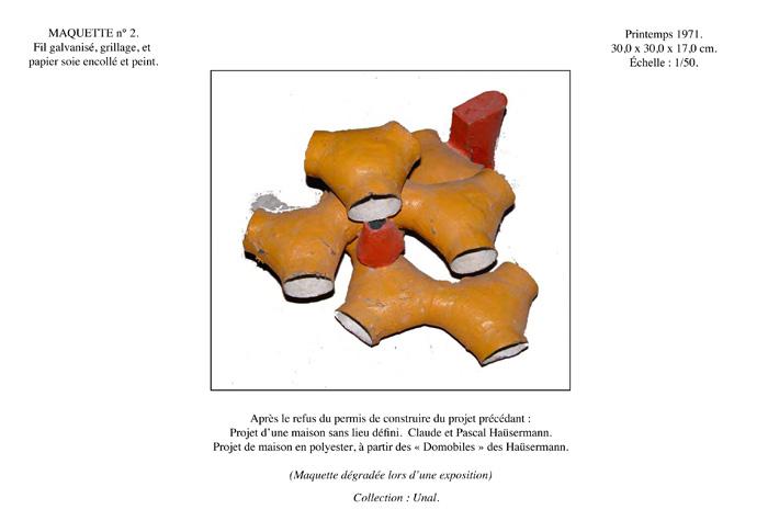 maison bulle Joël Unal maquette Varces