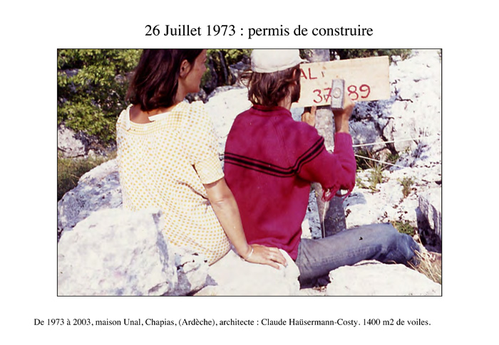 travaux Hercule chantier maison bulle Joël Unal permis de construire