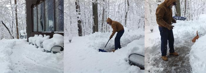 Tom sous la neige