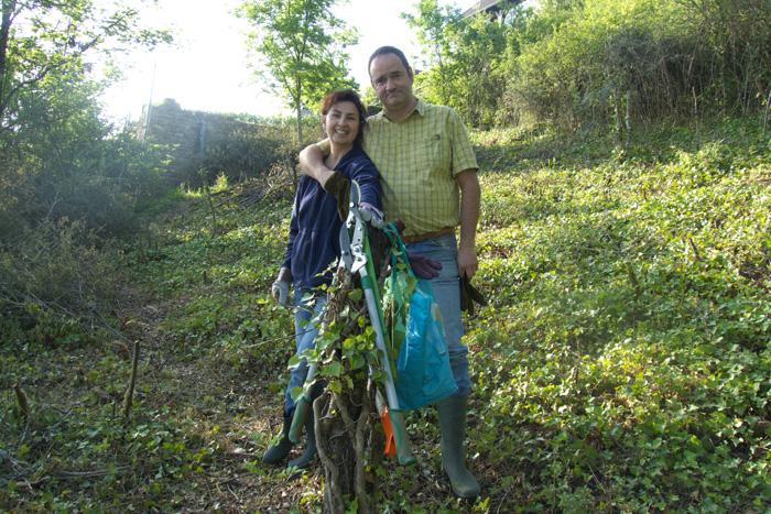 Adriana et Philippe à la maison bulle