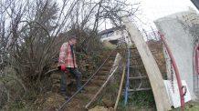 ferraillage escalier extérieur 02 nettoyage préparation