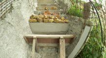 bétonnage marches escalier extérieur