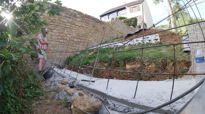 ferraillage mur soutènement