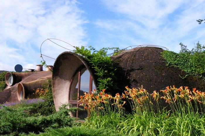 jardin de la maison bulle